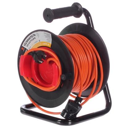 Удлинитель на катушке без заземления 1 розетка 2х1 мм2 30 м