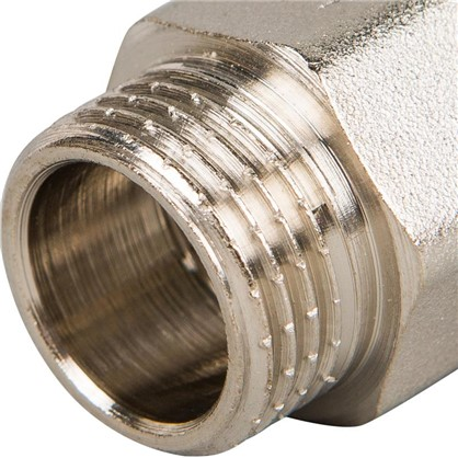 Удлинитель Valtec внутренняя резьба 1/2х15 мм никелированная латунь