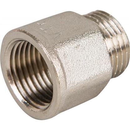 Удлинитель Valtec внутренняя резьба 1/2х20 мм никелированная латунь