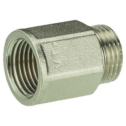 Удлинитель Valtec внутренняя резьба 1/2х25 мм никелированная латунь