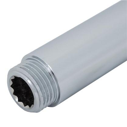 Удлинитель внутренняя резьба 1/2х100 мм цвет хром