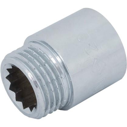 Удлинитель внутренняя резьба 1/2х20 мм цвет хром