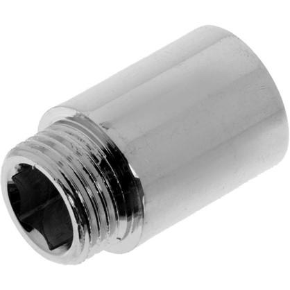 Удлинитель внутренняя резьба 1/2х30 мм цвет хром