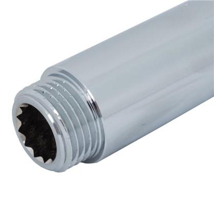 Удлинитель внутренняя резьба 1/2х80 мм цвет хром