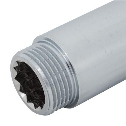 Удлинитель внутренняя резьба 3/4х100 мм цвет хром