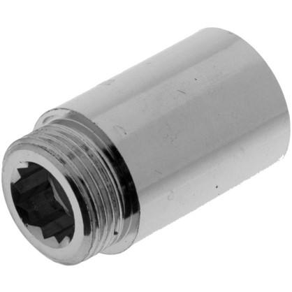 Купить Удлинитель внутренняя резьба 3/4х40 мм цвет хром дешевле