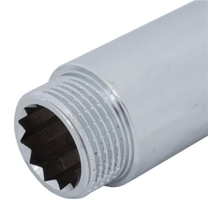 Удлинитель внутренняя резьба 3/4х50 мм цвет хром
