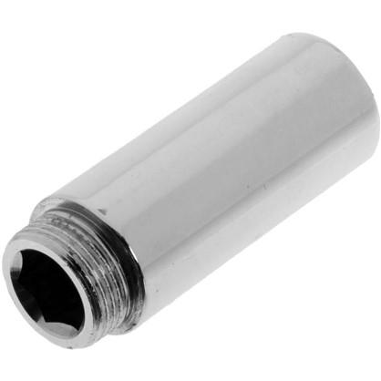 Удлинитель внутренняя резьба 3/4х80 мм цвет хром