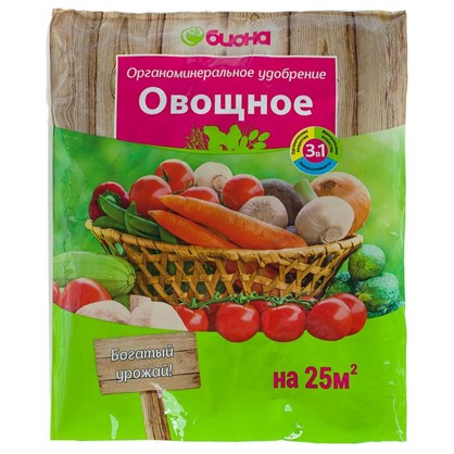 Купить Удобрение Биона для овощей ОМУ 0.5 кг дешевле
