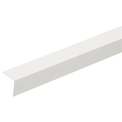 Купить Угол 20x20x2700 мм ПВХ цвет белый дешевле