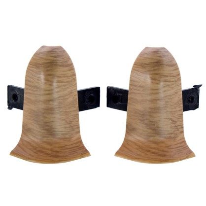 Угол для плинтуса внешний Дуб Древний 55 мм 2 шт.