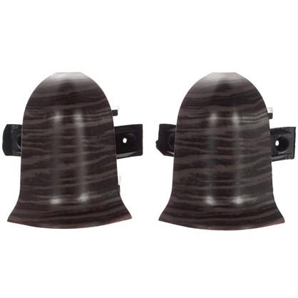 Угол для плинтуса внешний Дуб Палёный 47 мм 2 шт.