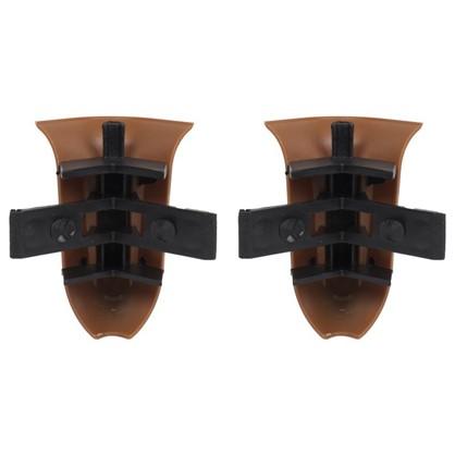 Угол для плинтуса внешний Орех Канадский 55 мм 2 шт.
