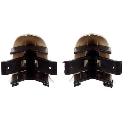 Угол для плинтуса внешний Светлый Мрамор 55 мм 2 шт.