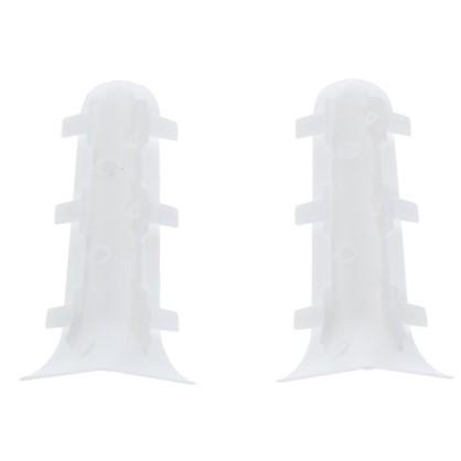 Угол для плинтуса внутренний Белый 86 мм 2 шт.