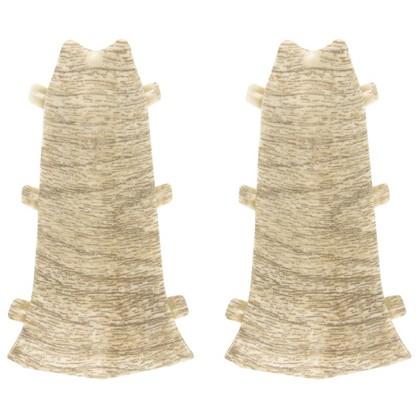 Купить Угол для плинтуса внутренний Дуб Белый 85 мм 2 шт. дешевле