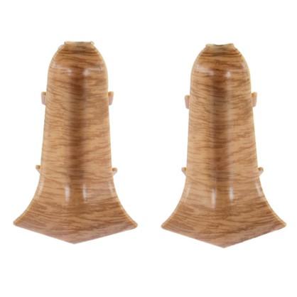 Купить Угол для плинтуса внутренний Дуб Древний 55 мм 2 шт. дешевле
