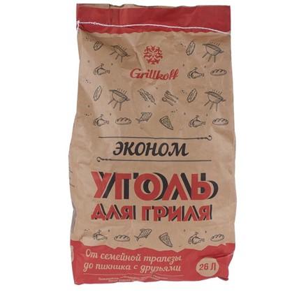 Уголь древесный Эконом 26 л (5 кг) для гриля