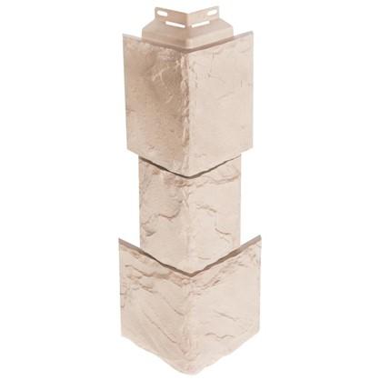 Купить Угол наружный FineBer Камень крупный цвет песочный дешевле