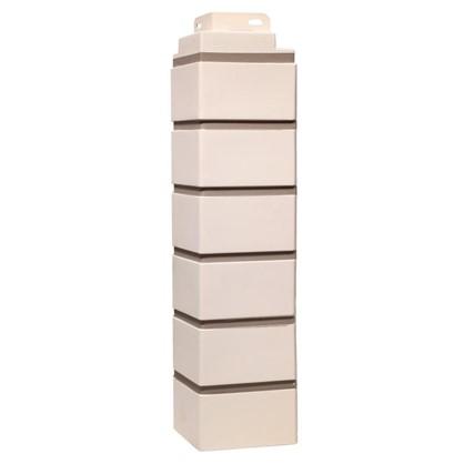 Купить Угол наружный FineBer Кирпич облицовочный цвет белый дешевле