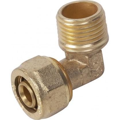Угол обжимной Minkor наружная резьба 16х1/2 мм латунь