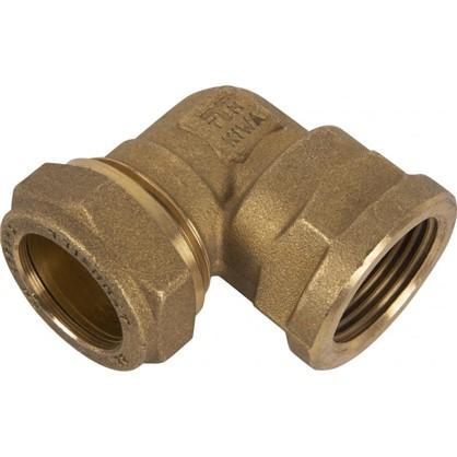 Угол обжимной Tiemme внутренняя резьба 90 градусов 22х3/4 мм медь