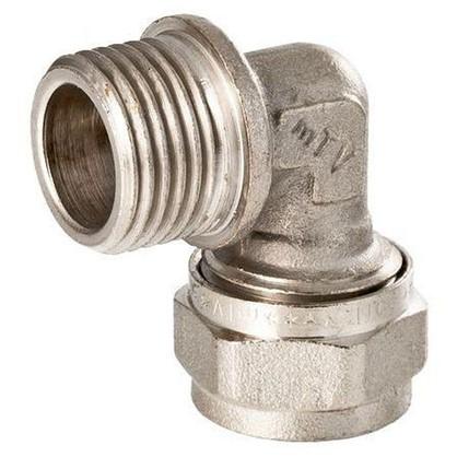 Угол обжимной Valtec наружная резьба 16х1/2 мм никелированная латунь