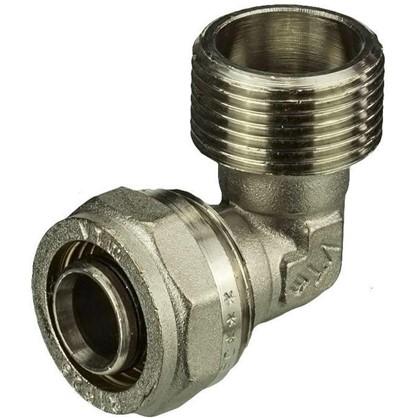 Угол обжимной Valtec наружная резьба 26x1 мм никелированная латунь
