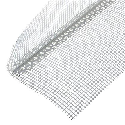 Купить Угол перфорированный ПВХ с сеткой 100х150x3000 мм дешевле