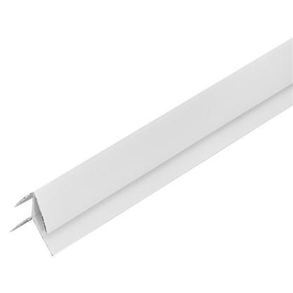 Угол ПВХ наружный 2440 мм цвет белый