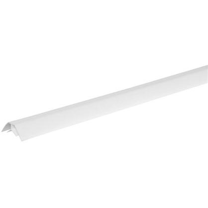 Купить Угол ПВХ внутренний для панелей 8 мм 3000 мм цвет белый дешевле