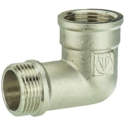 Угол Valtec внутренняя-наружная резьба 1 мм никелированная латунь