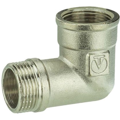 Угол Valtec внутренняя-наружная резьба 3/4 мм никелированная латунь