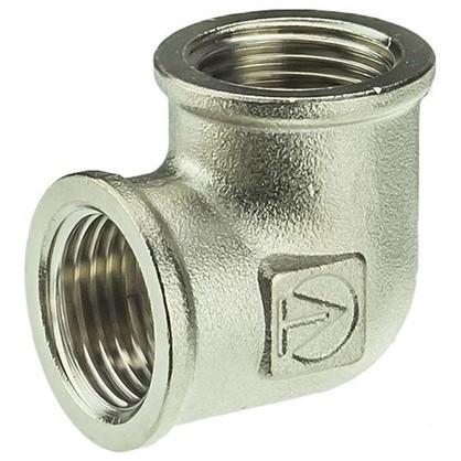Угол Valtec внутренняя-внутренняя резьба 1/2 мм никелированная латунь