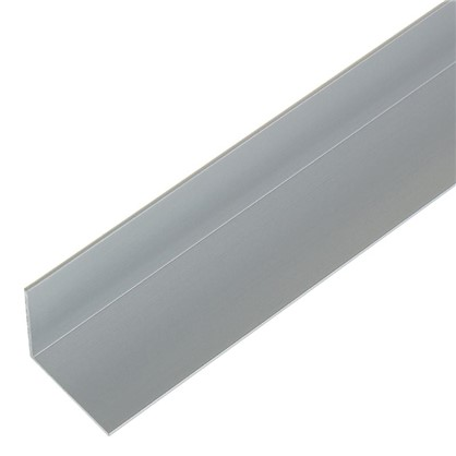 Уголок алюминиевый 20х20х1 см 1 м цвет серебро