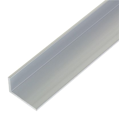 Уголок алюминиевый 25х15х2 мм 1 м цвет серебро