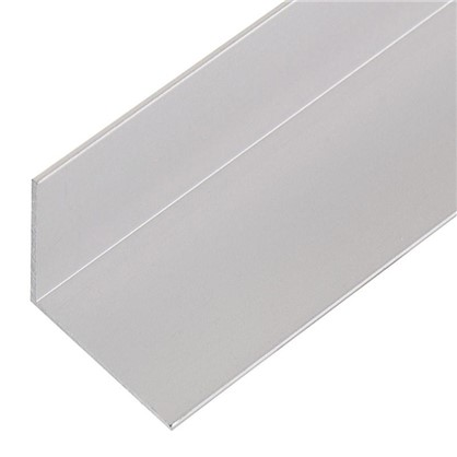Уголок алюминиевый 25х25х1.2 мм 2 м цвет серебро