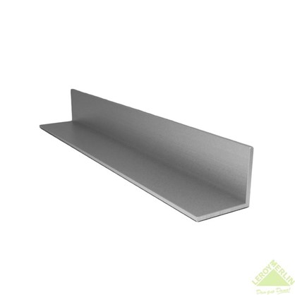 Уголок алюминиевый 40х10х2 мм 2 м цвет серебро