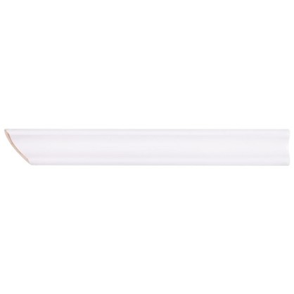 Уголок керамический срез левый 45 градусов 200х25 мм цвет белый