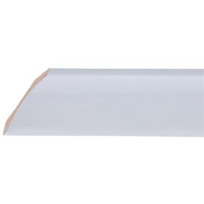 Уголок керамический срез левый 45 градусов 200х55 мм цвет белый