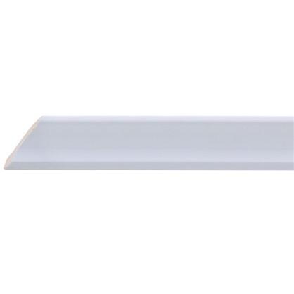 Уголок керамический срез левый 45 градусов 250х35 мм цвет белый