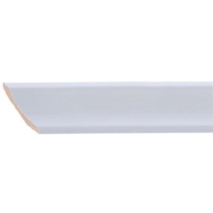 Уголок керамический срез правый 45 градусов 200х35 мм белый