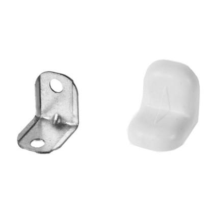 Купить Уголок мебельный с декоративной накладкой 20х20 мм сталь/пластик цвет белый 4 шт. дешевле