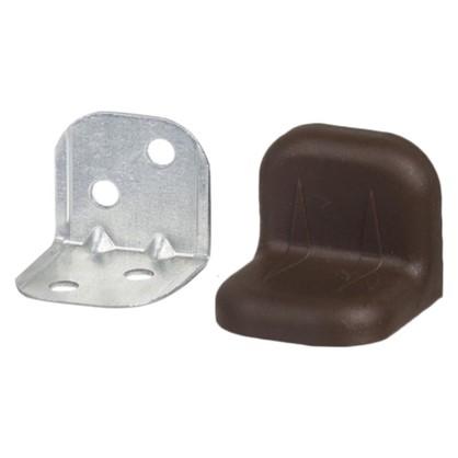 Уголок мебельный с декоративной накладкой 20х20х28 мм цвет коричневый 4 шт.