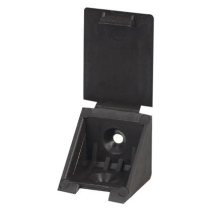 Уголок монтажный 25 мм пластик цвет темно-коричневый 8 шт.