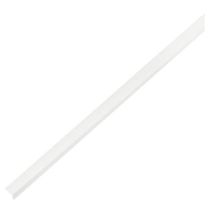 Уголок ПВХ 10x10x1x1000 мм цвет белый