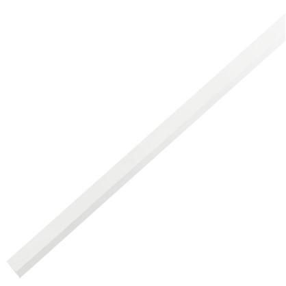 Уголок ПВХ 10x10x1x2000 мм цвет белый