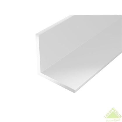 Уголок ПВХ 15x15x1.2x2000 мм цвет белый