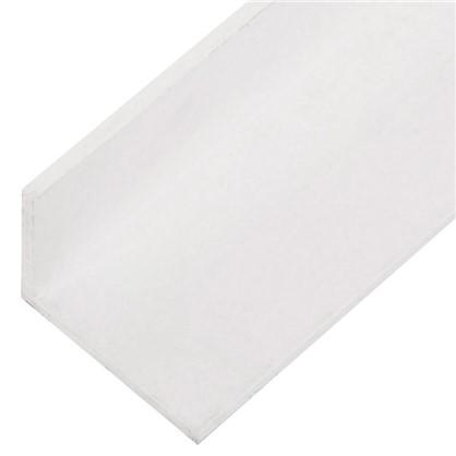 Уголок ПВХ 25x20x2x2000 мм цвет белый