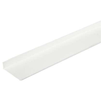 Купить Уголок ПВХ 40x10x2x2000 мм цвет белый дешевле